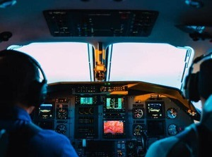 ab-initio training two pilots in cockpit