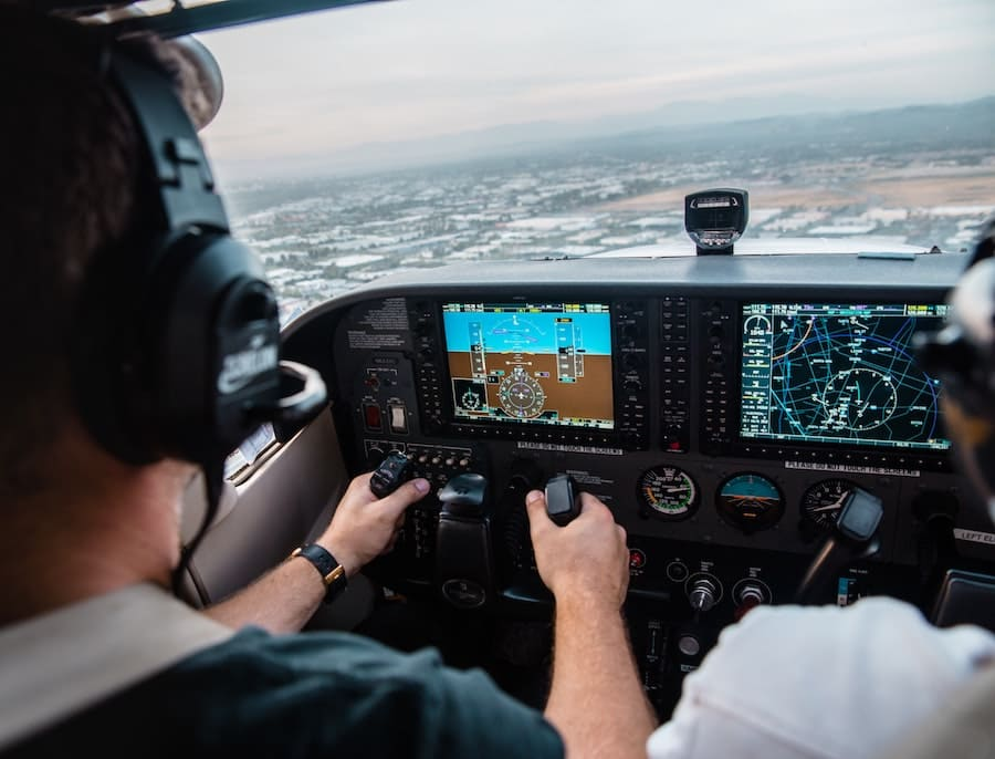 flight training cockpit view